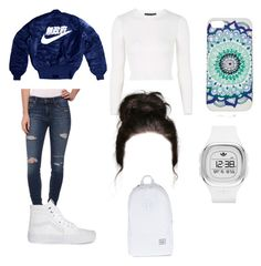 """Tuesday"" by princesskdot ❤ liked on Polyvore featuring Joe's Jeans, Vans, Topshop, adidas Originals and Herschel Supply Co."