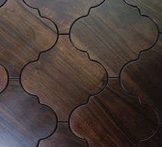Moroccan wood floor tiles - Sextant pattern