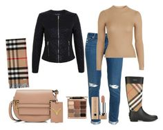 """""""Untitled #74"""" by renadagreer on Polyvore featuring Miss Selfridge, Burberry, Paige Denim, Topshop, Stila and Valentino"""
