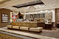 We wanted to make the Starbucks store at Caesars Palace as regal as its Grecian surroundings. You'll find glitz and glam throughout, including handmade tiles behind the bar backed in gold leaf.