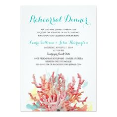 Colorful Reefs Watercolor | Rehearsal Dinner