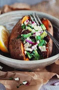 Summer Stuffed Sweet Potatoes