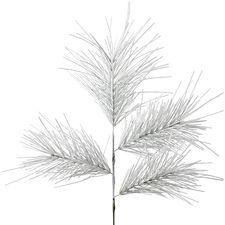 Flocked Faux Pine Spray