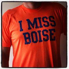 I MISS BOISE (Boise State Broncos). $25.00, via Etsy.