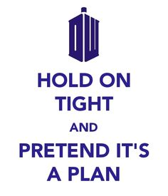 Doctor Who - Hold on tight and pretend it's a plan. Also known as my entire life.