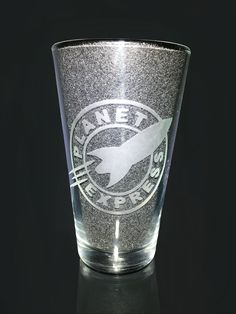 Your place to buy and sell all things handmade Futurama, Presents For Him, Gifts For Her, Planet Express, Skeleton Finger, Glass Etching, Etched Glass, Elder Scrolls Skyrim, Pint Glass