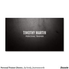 Personal Trainer (Sessions Card) Double-Sided Standard Business Cards (Pack Of 100) #fitness #personaltraining #personaltrainer #fitnessbusinesscards #fitness #health #workout #gymtime #personaltrainerbusinesscards #fitnessbusinesscards #weightloss #weightlifting #bodybuilding #sports #black #rusticbusinesscards #weathered
