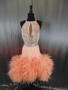 Love the top and the color. Not a fan of the frou frou feathers for Latin.