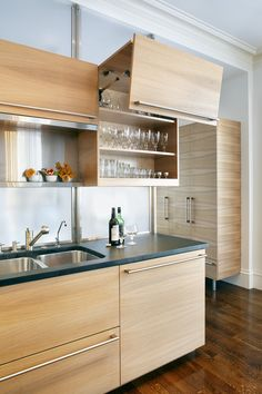 Gorgeous Base Wall Cabinet Sleek Kitchen Cabinet And Island ...