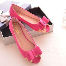 Giày búp bê nữ thời trang, đính nơ trẻ trung nữ tính, phong cách Hàn