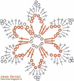 "Crochet Motif Image for ""crochet snowflakes free patterns"" Crochet Snowflake Pattern, Crochet Stars, Crochet Motifs, Crochet Snowflakes, Crochet Flower Patterns, Crochet Diagram, Thread Crochet, Crochet Ornaments, Diy Crochet"