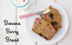 Banana Berry Bread on Weelicious--this could be a perfect make-ahead breakfast when it's my breakfast week at day care! Toddler Meals, Kids Meals, Toddler Recipes, Toddler Food, Baby Food Recipes, Dessert Recipes, Kid Recipes, Lunch Recipes, Desserts