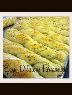 "I've been making this breadstick recipe from my family cookbook for quite some time. In fact, my mom (and my cousin) was even the one that submitted it to our cookbook. My cousin calls them ""The You Couldn't Get Any Tastier Breadsticks."" Ha. These breadsticks are delicious and easy!"