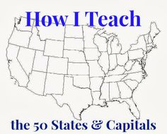 Oh, Sweet Honey Iced Tea!: Learning the 50 States, their Capitals, and their Map Locations Geography For Kids, Teaching Geography, Geography Activities, 3rd Grade Social Studies, Teaching Social Studies, States And Capitals, Kids Education, History Education, Teaching History