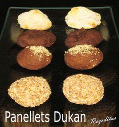 Panellets Dukan de sésamo, nevados, de chocolate y de coco