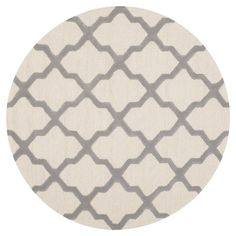 Madras Rug in Silver