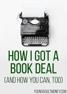 One way to earn extra money is to become an author. Are you interested in writing a book? Here's exactly how I got a book deal - and how you can too!