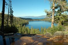 Lake Tahoe hiking trail - Cascade Falls. View of Cascade Lake taken from Cascade Falls, Lake Tahoe. A great family hike, great views and not too long.