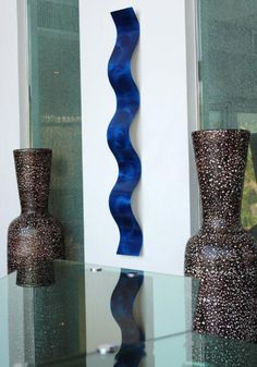 Original Abstract Metal Modern Blue Wall Art by statements2000, $75.00