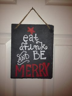 Chalkboard Holiday Signs by TreasuresbyTallulah on Etsy, $17.00