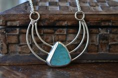 Crescent turquoise necklace