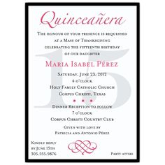 Quinceanera Invitation Wording Template | Best Template Collection