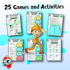 Easy to use - No Planning required - Physical education Games designed for Cricket Physical Education Lesson Plans, Elementary Physical Education, Teacher Education, Health Education, Elementary Schools, Warm Up Games, Fun Games For Kids, Gym Games, Lesson Plans