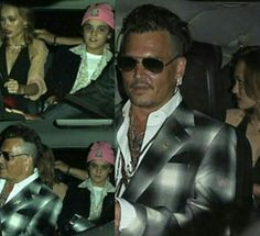 Johnny Depp with his children Lily Rose and Jack