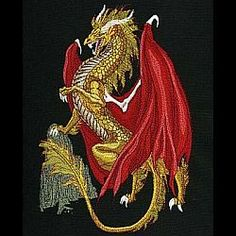 Embroidery Supplies, Custom Embroidery, Embroidery Thread, Machine Embroidery Designs, Embroidery Ideas, Mythical Creatures, Free Design, Dragons, Sewing Machines