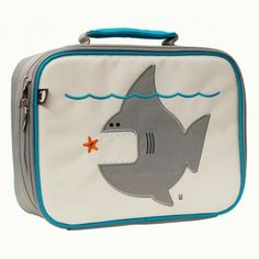 This insulated (lunch-) bag embroidered with Nigel The Shark is a playful way to keep tuna sandwiches and carrot sticks fresh until lunch time. Made with heavy-duty nylon and machine washable for kid-proof durability and easy cleaning.