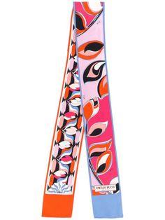 Emilio Pucci Long Patterned Scarf - Farfetch Emilio Pucci, World Of Fashion, Fashion Show, Fashion Design, Bandeau Swimsuit, Dubai Fashion, Armani Prive, Pink Jacket, Couture Collection
