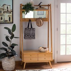 Store your outerwear and accessories in style with the Belham Living Mid-Century Modern Finn Hall Tree . This space-saving hall tree features two storage. Classic Furniture, Modern Furniture, Home Furniture, Rustic Furniture, Outdoor Furniture, Furniture Stores, Cheap Furniture, Furniture Cleaning, Entryway Furniture