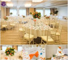 Bright & vibrant colour scheme. Flowers & decor by Seventh Heaven Events - wedding at The Runnymede Hotel #seventhheavenevents