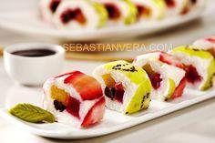 Sweet fruit Sushi rolls