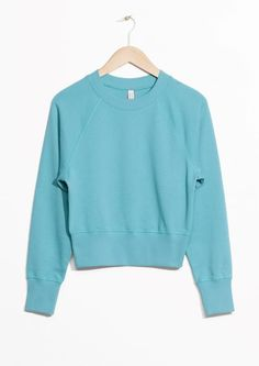 & Other Stories image 2 of Raglan Sleeve Sweater in Turquoise