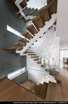 Of course, so as to reach a higher amount in our home, one needs to make use of the stairways. The stairways come in different lovely concepts. It can be a straightforward modern-day stairs along w… Open Stairs, Glass Stairs, Glass Railing, Staircase Railings, Modern Staircase, Stairways, Stair Treads, Home Stairs Design, Interior Stairs