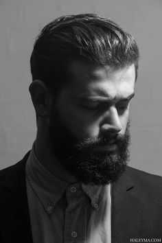 Attractive bearded men wearing suits: Photo