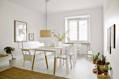 A serene Stockholm apartment.