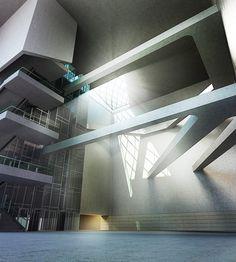 Visualization of a futuristic subway in Vienna. 3d Visualization, Vienna, Futuristic, Stairs, Ladders, Stairway, Staircases, Stairways