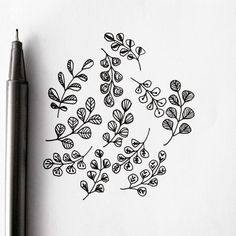 Some quick leaf doodles for day 16 of my #leafproject2015