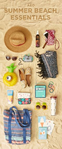 Beach, please. AEO Summer Beach Essentials will take you from the pool to the sand.