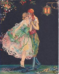1920's Art Deco Print ~ Romantic Gypsy's