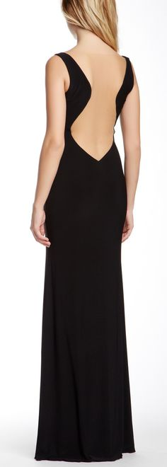 Plunge back gown