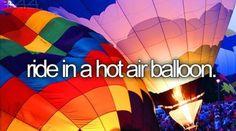Bucket List: Ride in a hot air ballon [check] College Bucket List, Summer Bucket Lists, Bucket List Life, Balloon Rides, Hot Air Balloon, Air Ballon, Adventure Bucket List, Adventure Is Out There, Bucket List Before I Die