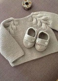 New Knitting Baby Patterns Sweater Tricot Ideas Baby Knitting Patterns, Knitting For Kids, Baby Patterns, Knitting Projects, Hand Knitting, Cardigan Bebe, Baby Cardigan, Knit Or Crochet, Crochet For Kids