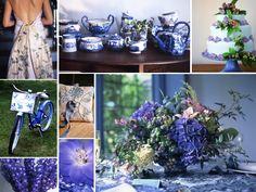 blue+china+plates+wedding+decoration | Blue wedding inspiration board