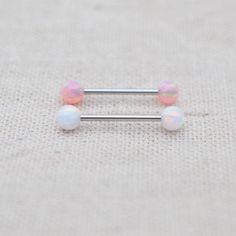 This listing is for one opal nipple ring. The barbell is surgical stainless steel and is thick long. The opal ball is can unscrewed the opal ball to put the barbell on. You will receive one of this nipple ring packed in a gift bag. Ear Cuff Piercing, Tongue Piercing Jewelry, Double Cartilage Piercing, Dermal Piercing, Tongue Piercings, Cute Jewelry, Body Jewelry, Piercings Bonitos, Tongue Rings
