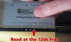 Read the height at the 12th fret