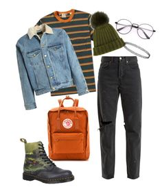 """Untitled #35"" by trash4fashion on Polyvore featuring Fjällräven, Dr. Martens, RE/DONE, Levi's, Fear of God and DANIELAPI"