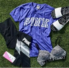 Trendy Sport Oufits For Teens Vs Pink Ideas Cute Comfy Outfits, Sporty Outfits, Athletic Outfits, Vs Pink Outfit, Pink Outfits, Summer Outfits, Victoria Secret Outfits, Victoria Secret Pink, Victoria Secret Clothing